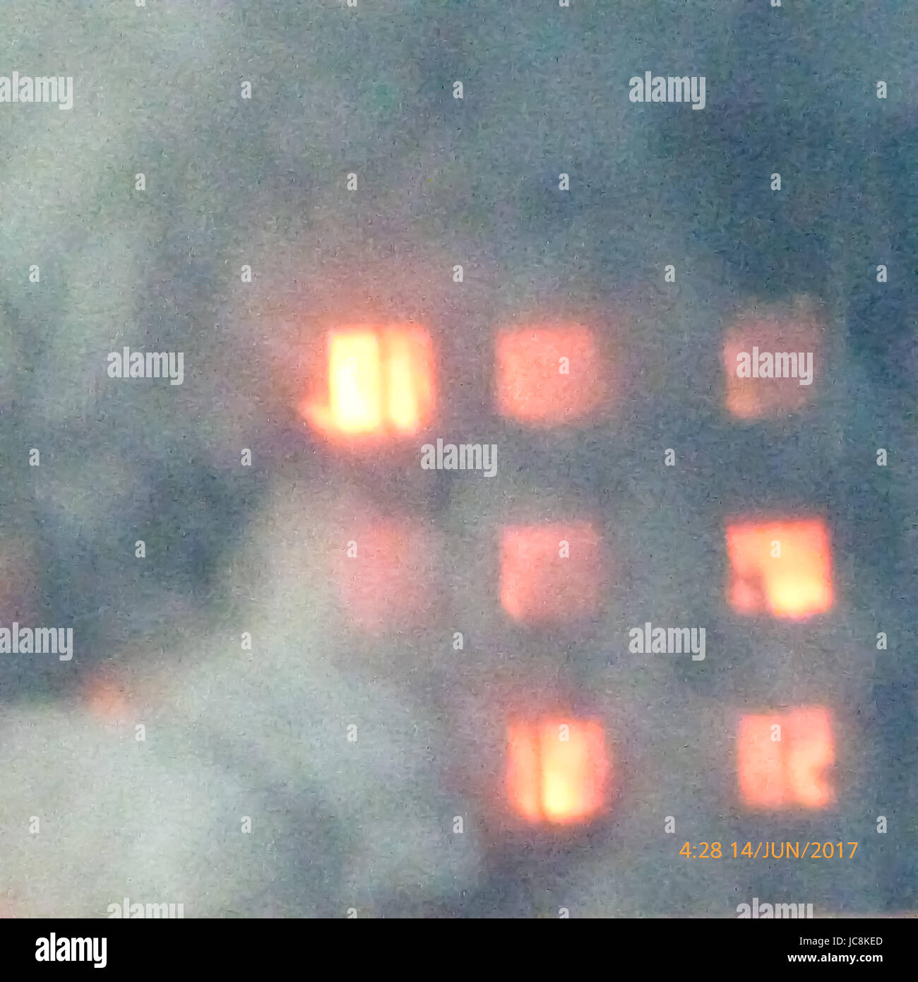 London, UK. 14th Jun, 2017. Grenfell Residential Tower ablaze in West London UK, multiple fatalities reported. Credit: - Stock Image