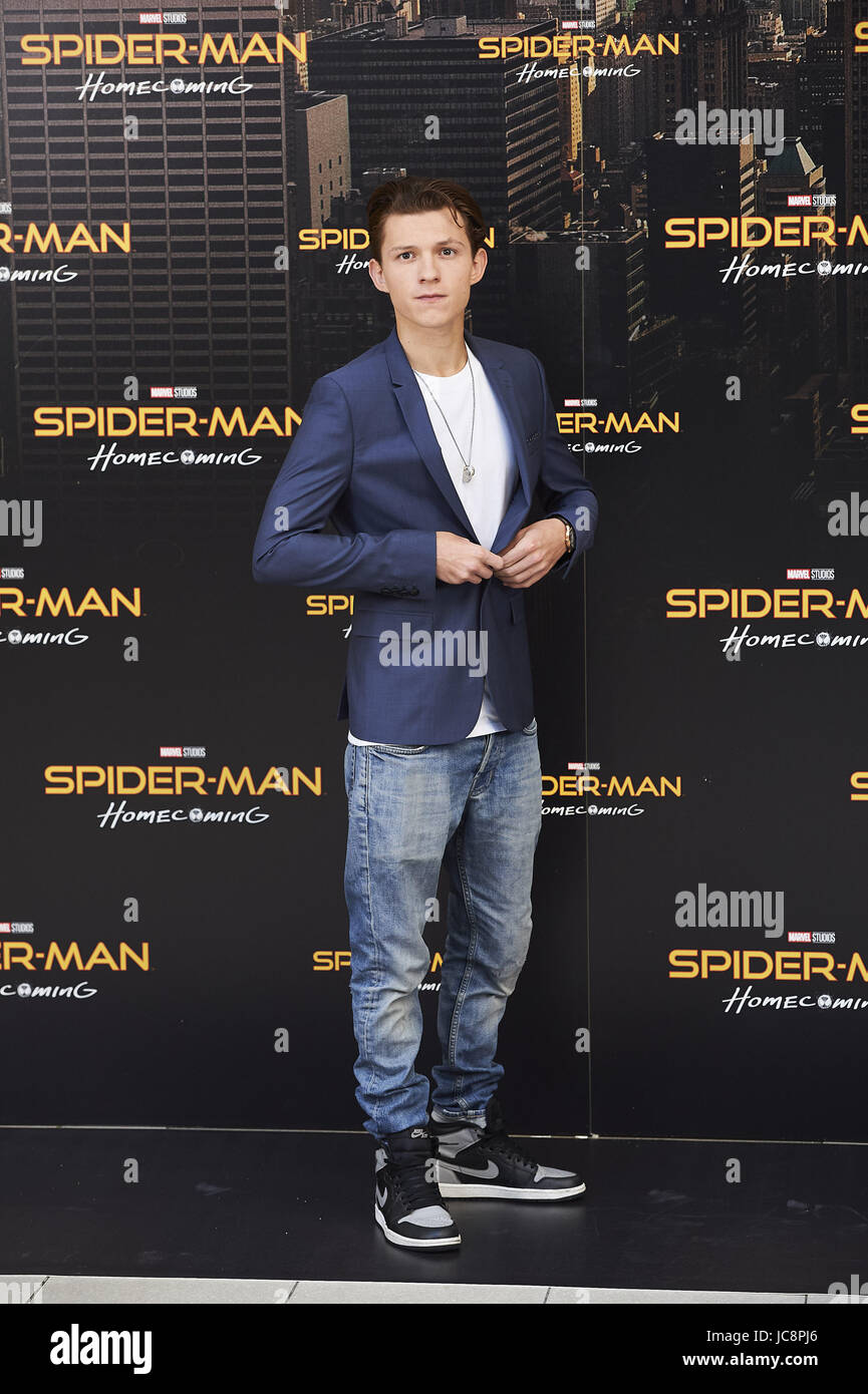 Madrid, Madrid, Spain. 14th June, 2017. Tom Holland attends a Stock ...