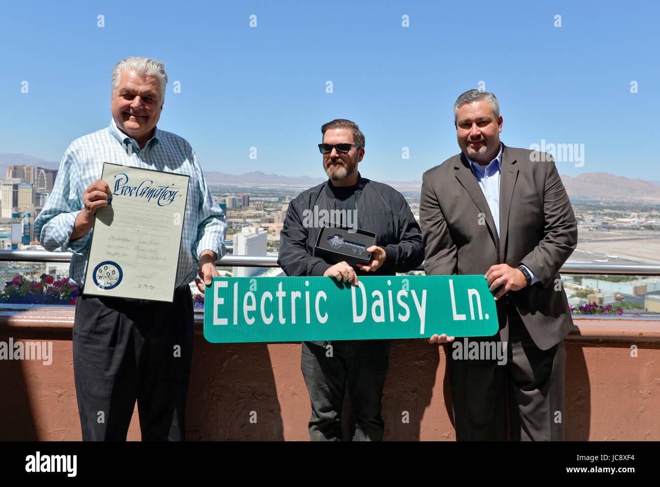 Las Vegas, Nevada, USA. 14th Jun, 2017.  Clark County Nevada presents Insomniac CEO and Founder, Pasquale Rotella, - Stock Image
