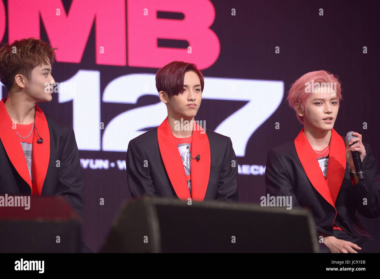 Seoul, Korea  14th June, 2017  NCT 127 promotes for their