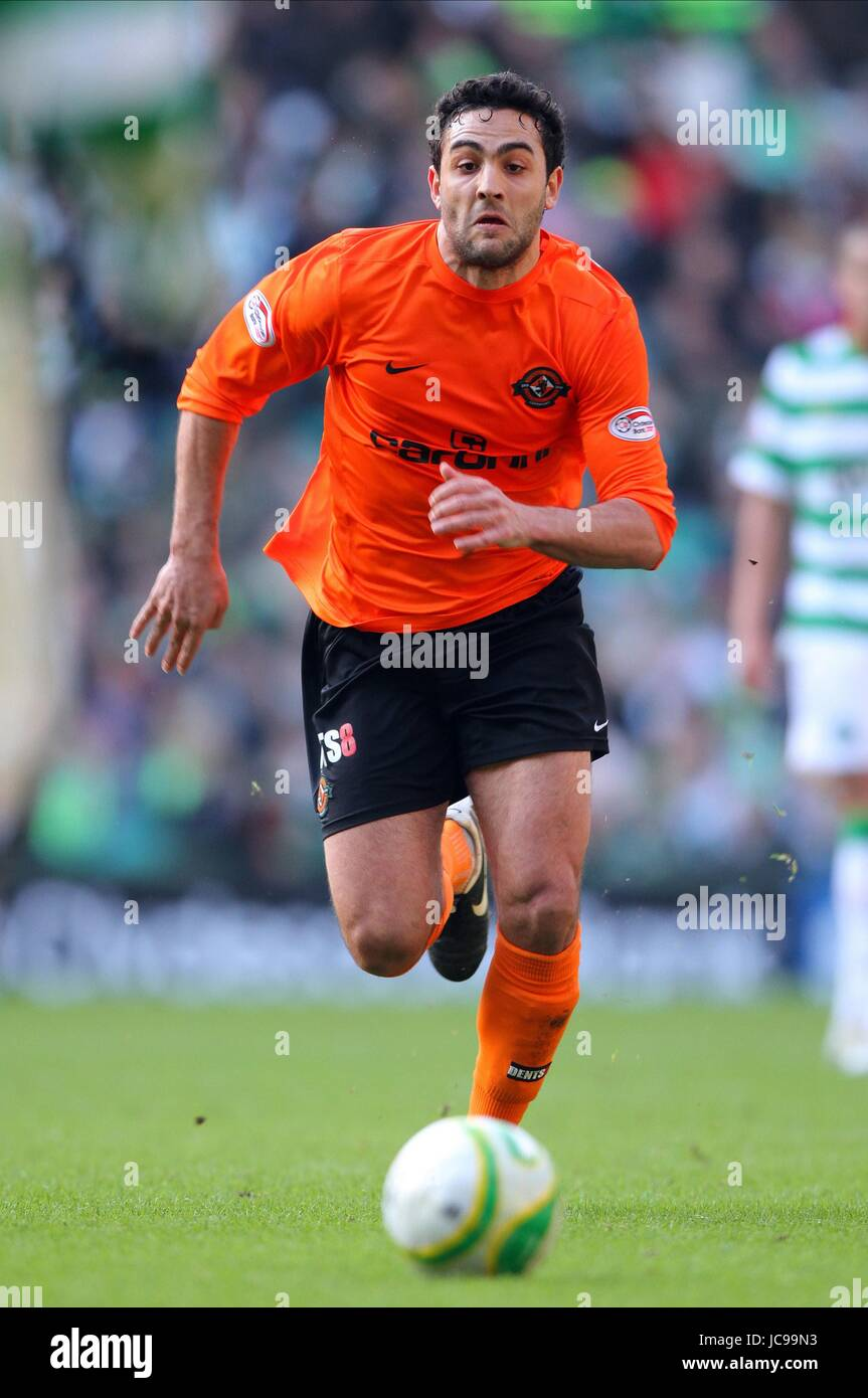DAMIAN CASALINUOUVO DUNDEE UNITED FC CELTIC PARK GLASGOW SCOTLAND 20 February 2010 - Stock Image
