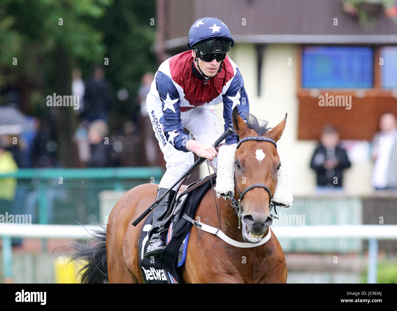 Snap Shots ridden by Barry McHugh prior to the Betway Dash Handicap - Stock Image