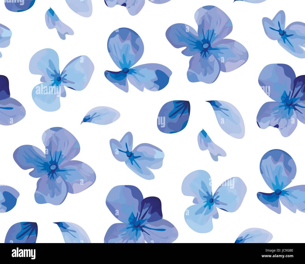Hortensia Flower Floral Vintage Hydrangea Purple Blue Garden Flowers