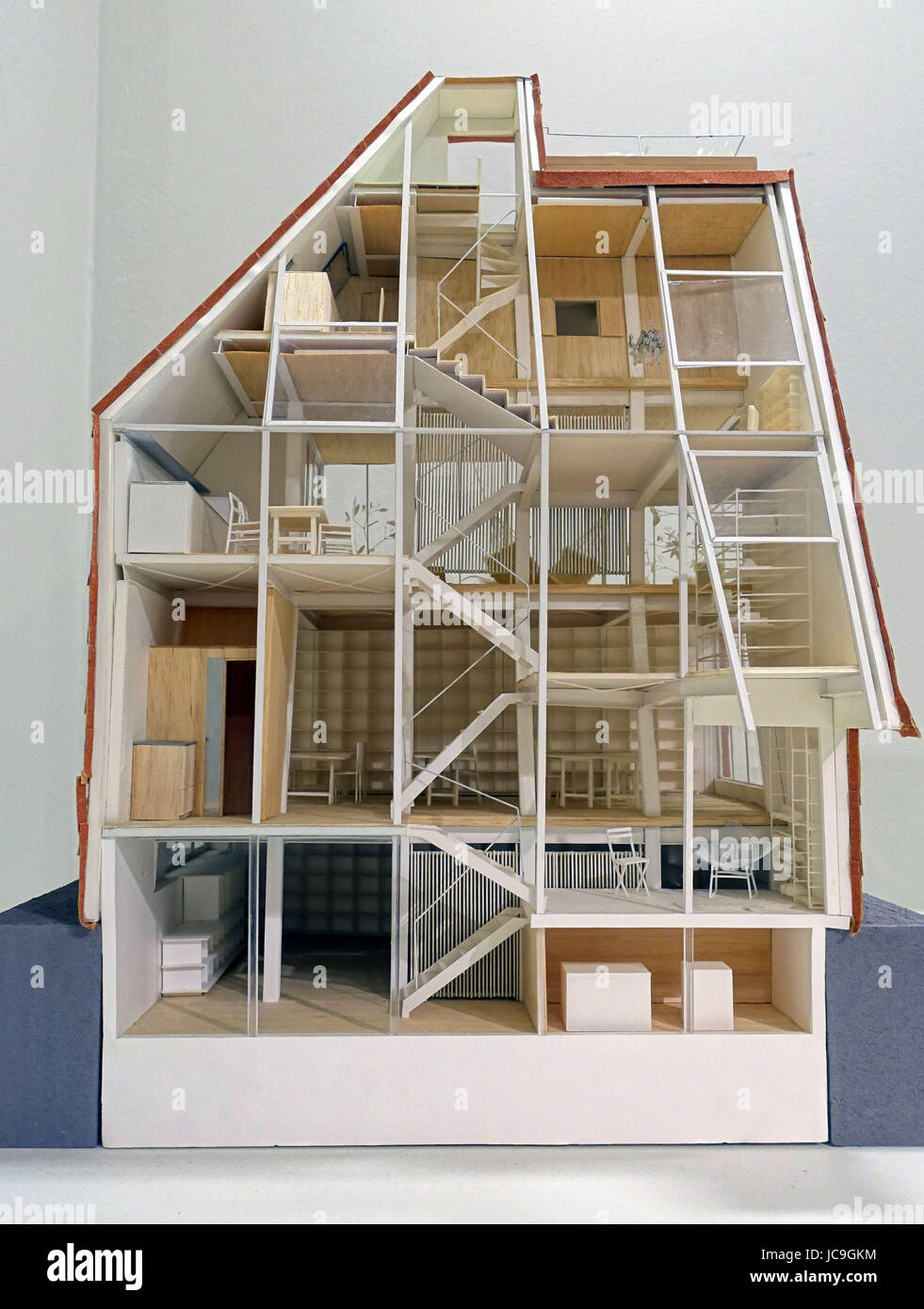 120 Scale Model Of A House Designed By Atelier Bow Wow At The Japanese Exhibition Barbican Gallery City London