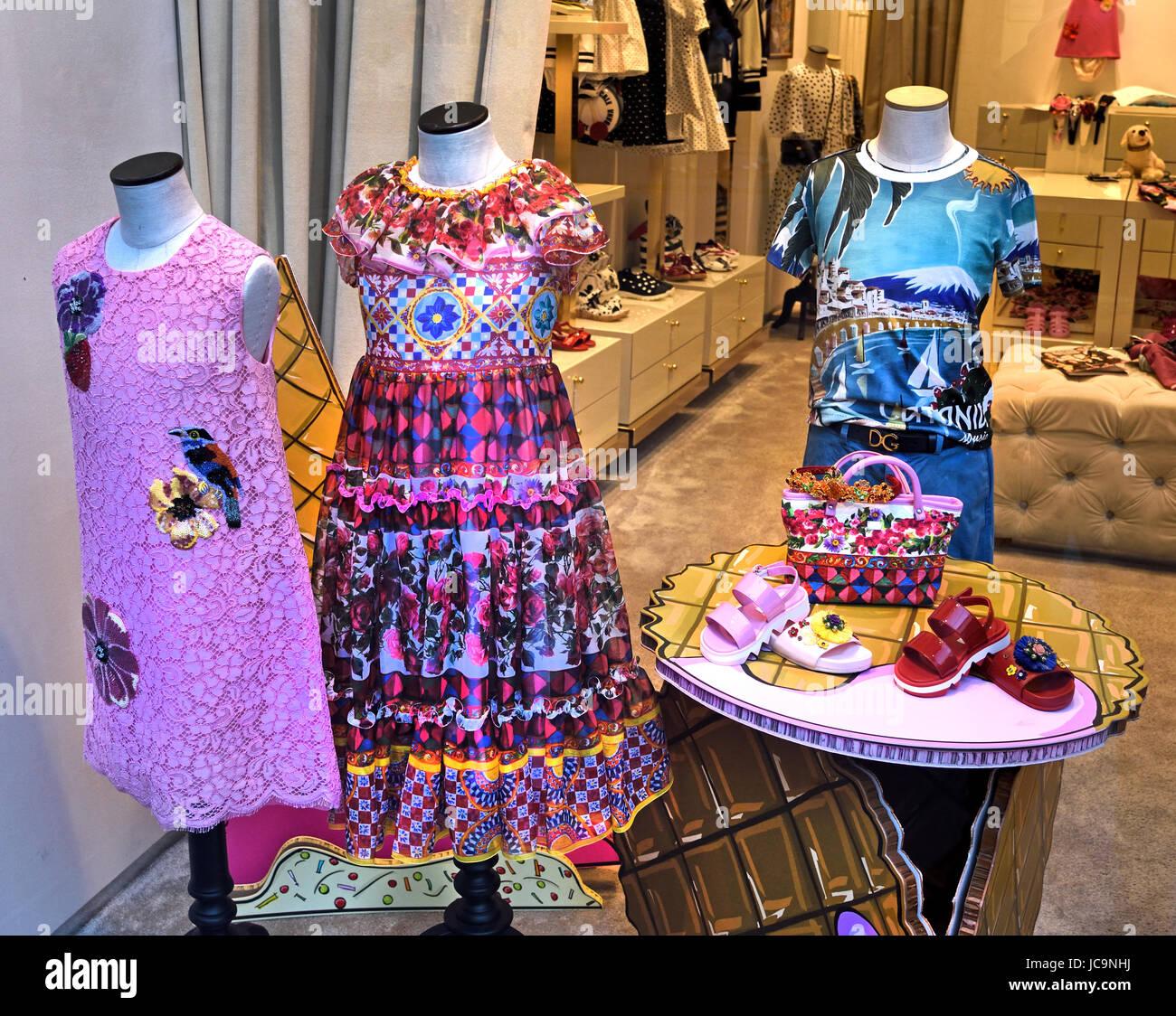 Dolce Gabbana Florence Italy Italian, - Stock Image