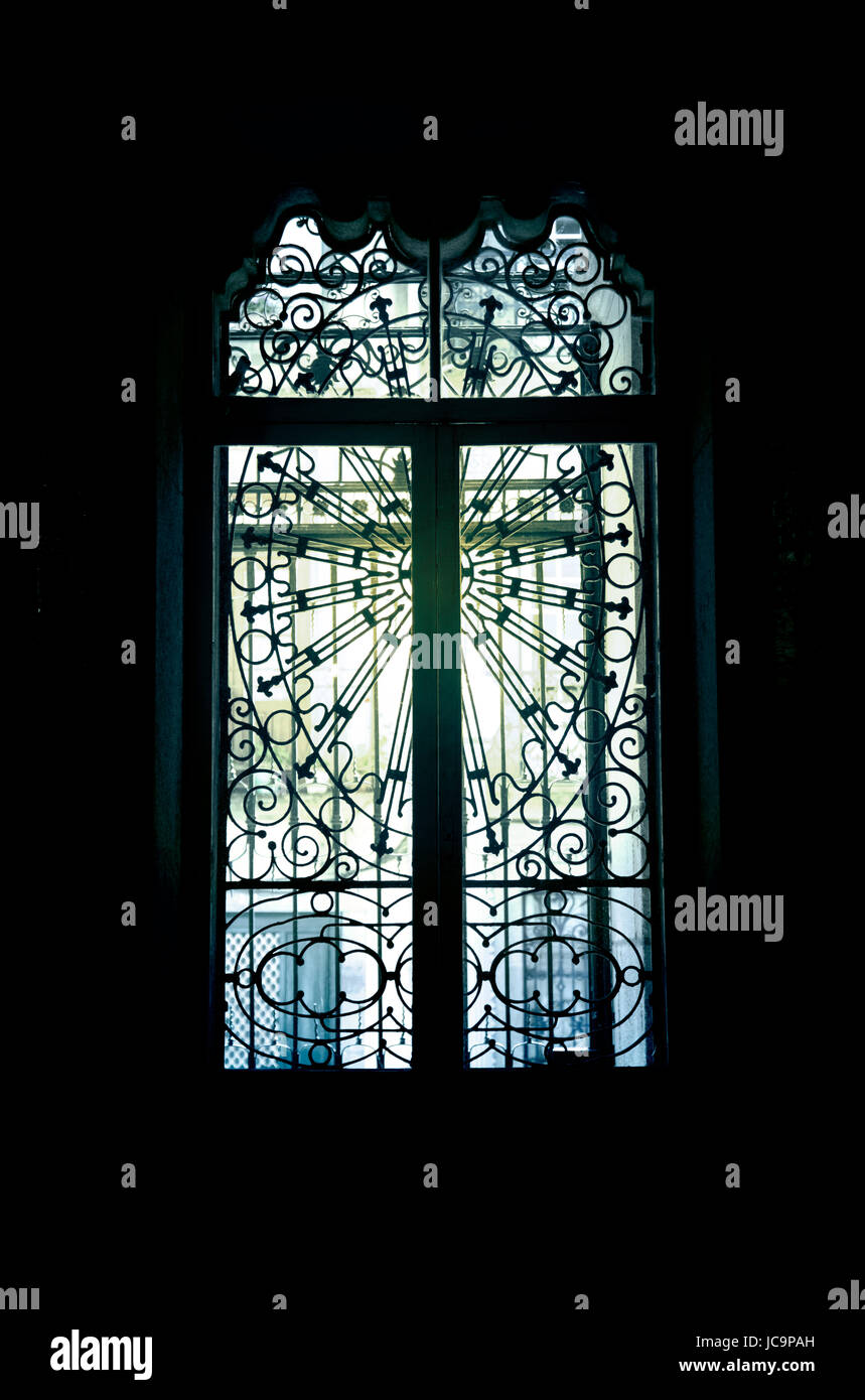 Ecclesiastical Window Grille - Stock Image