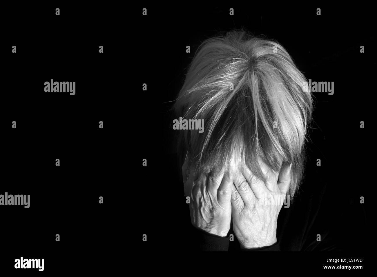 Depression. - Stock Image