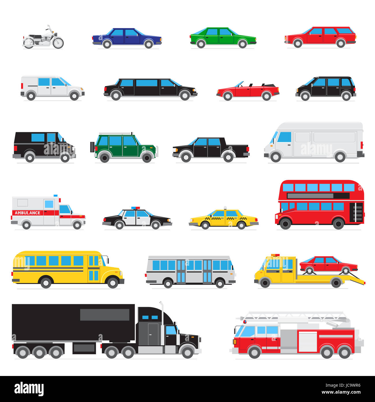 Different Types Of Cars >> The Collection Of Simple And Different Kinds And Types Of Cars Stock