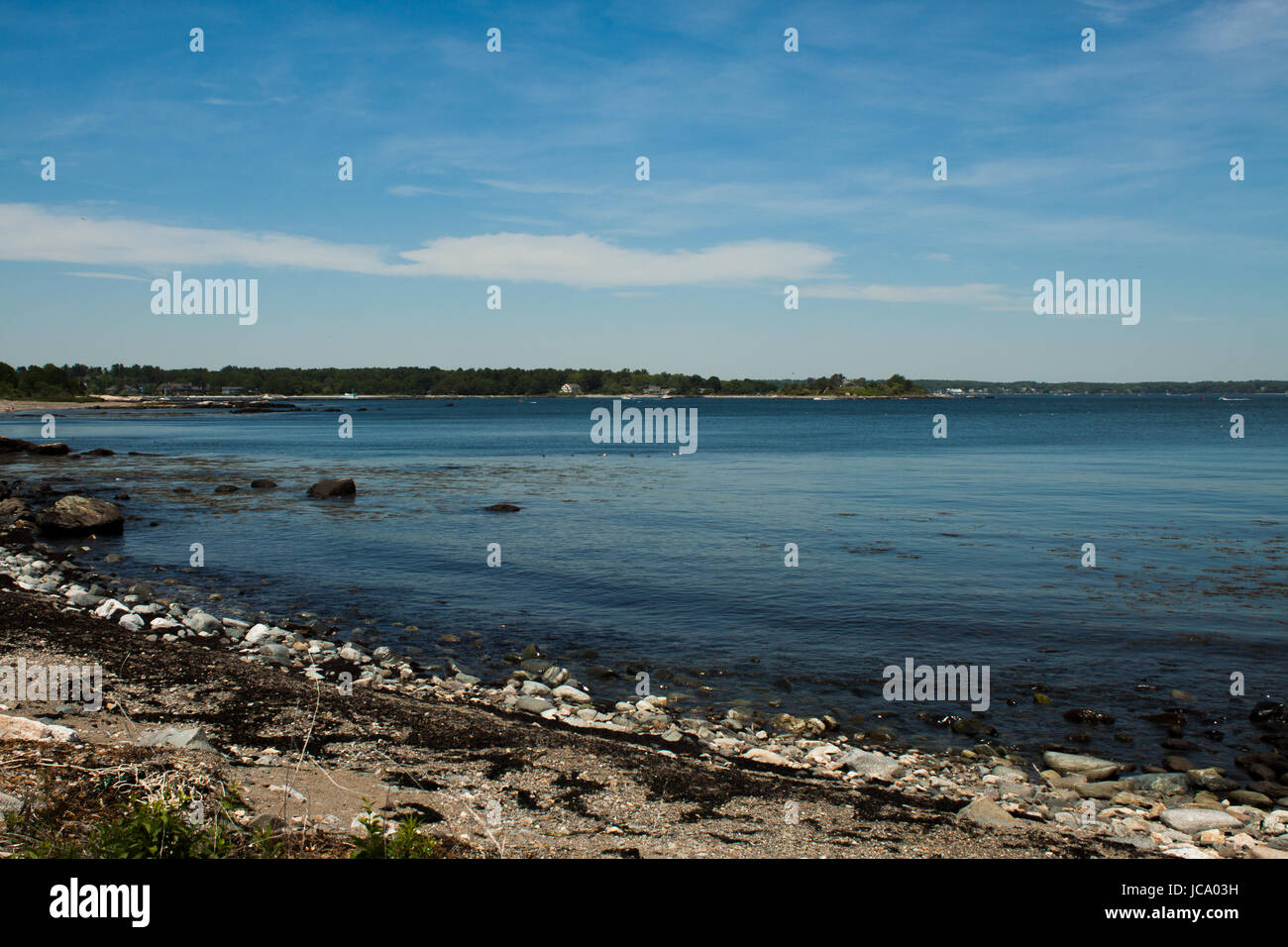 A landscape shot looking back at New Hampshire. - Stock Image
