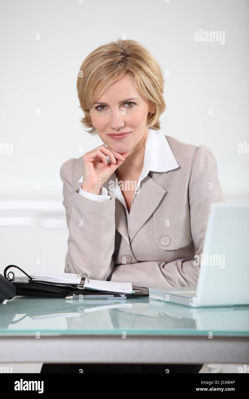 Absolutely busty mature secretary