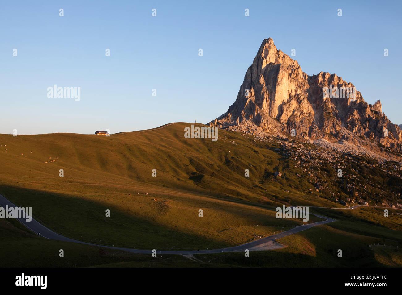 Passo Giau and Cima Ra Gusela, Dolomites, Italy. - Stock Image