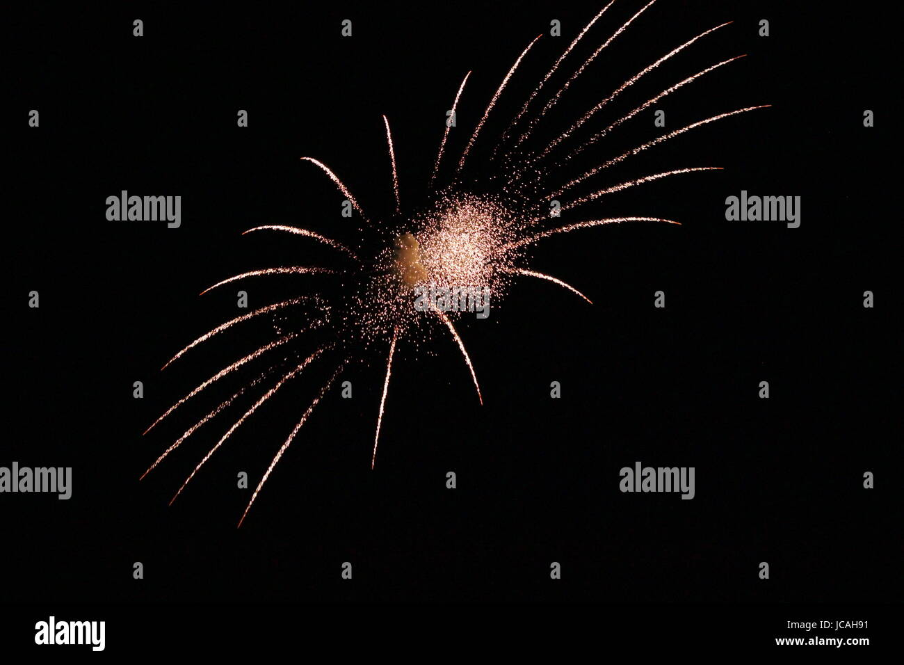 FIRE WORK ON FOURTH OF JULY - Stock Image