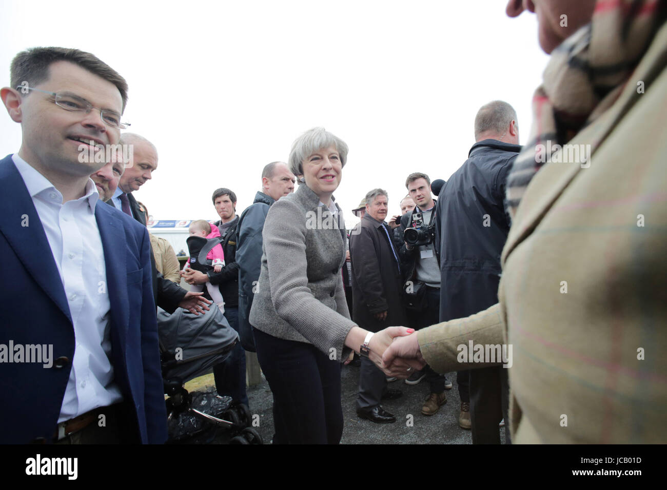 EXCLUSIVE FILE IMAGES - Britian's Prime Minister Theresa May and Northern Ireland Secretary of State for Northern - Stock Image