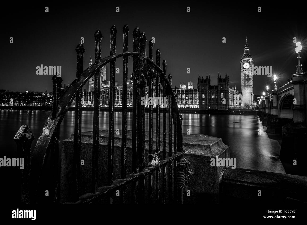 Westminster, Locked out - Stock Image