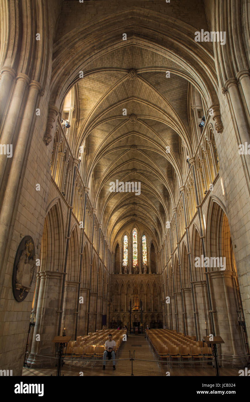 Southwark Cathedral Vaulted Ceiling Stock Photo