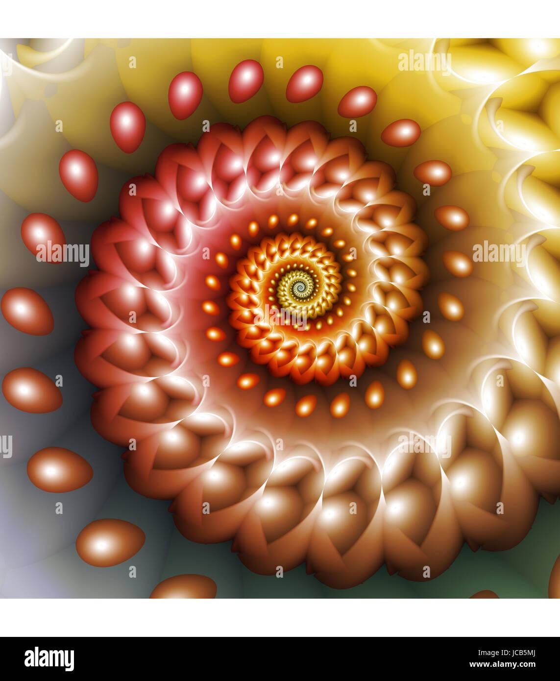 Spiraling abstract fractal design Stock Photo