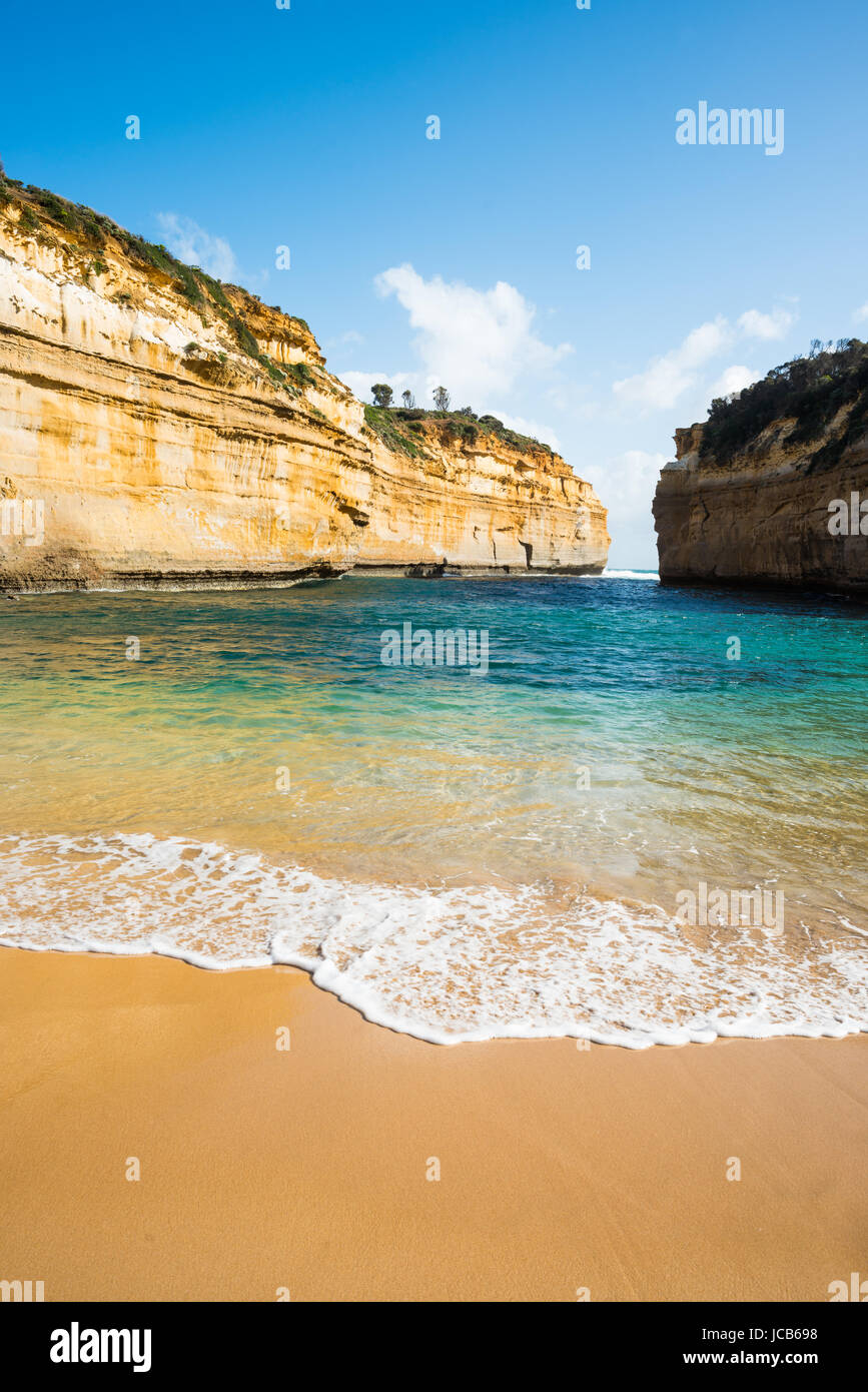 Loch Ard Gorge, Port Campbell on the Great Ocean Road, South Australia, near the Twelve Apostles. - Stock Image