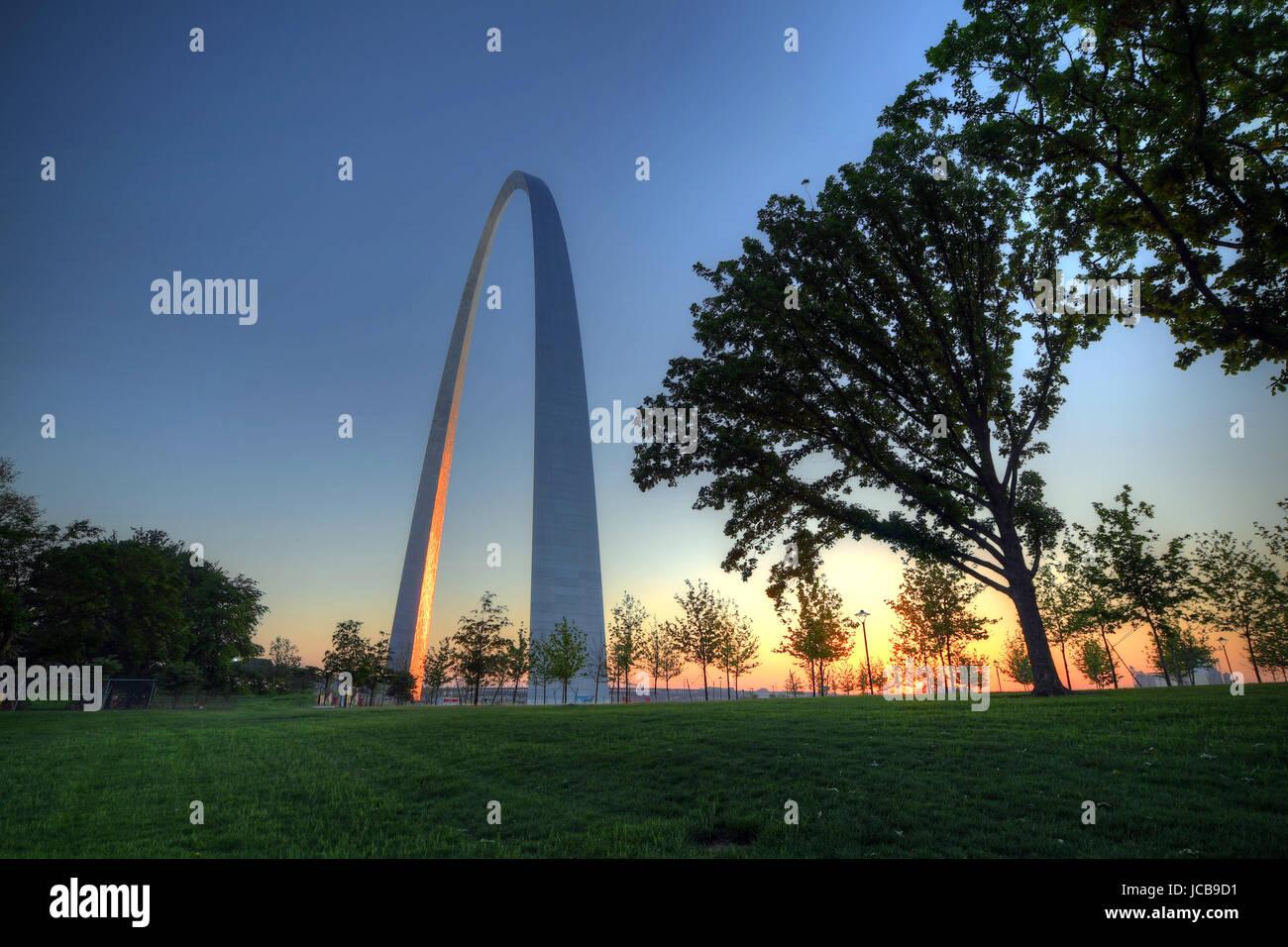 Gateway Arch in St. Louis, Missouri. - Stock Image