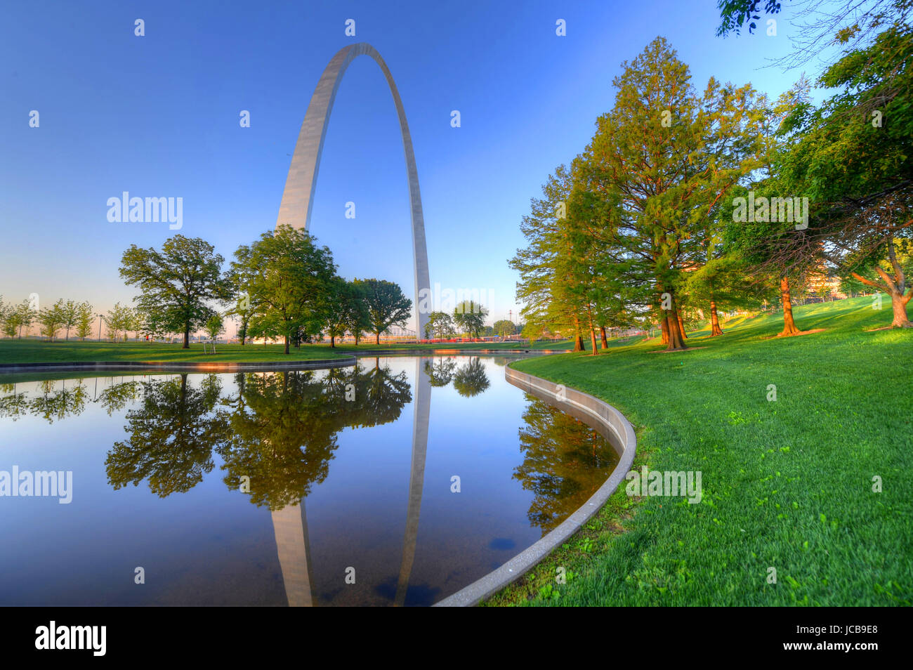 The Gateway Arch in St. Louis, Missouri. - Stock Image