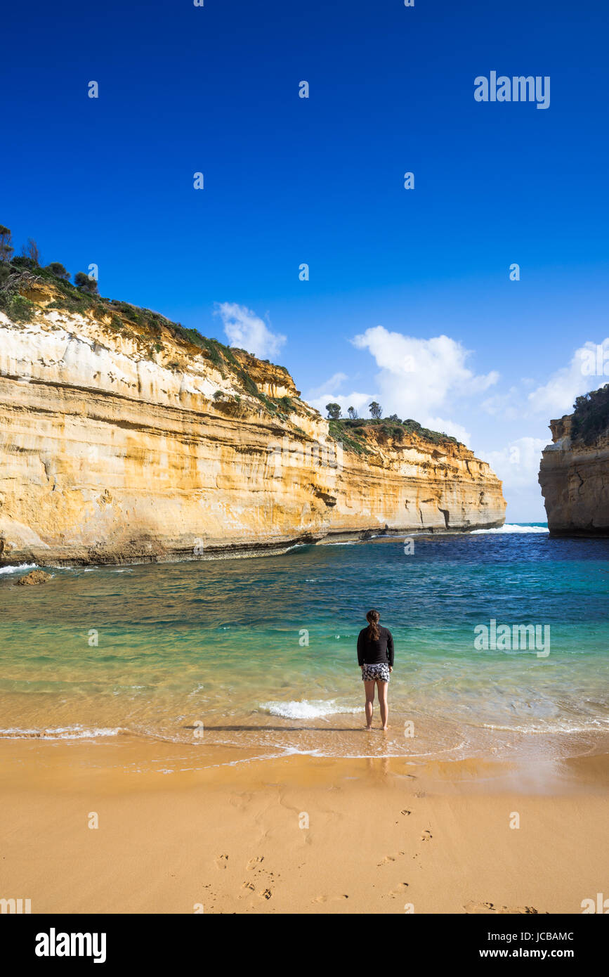 Loch Ard Gorge, Port Campbell on the Great Ocean Road, South Australia, near the Twelve Apostles. Stock Photo