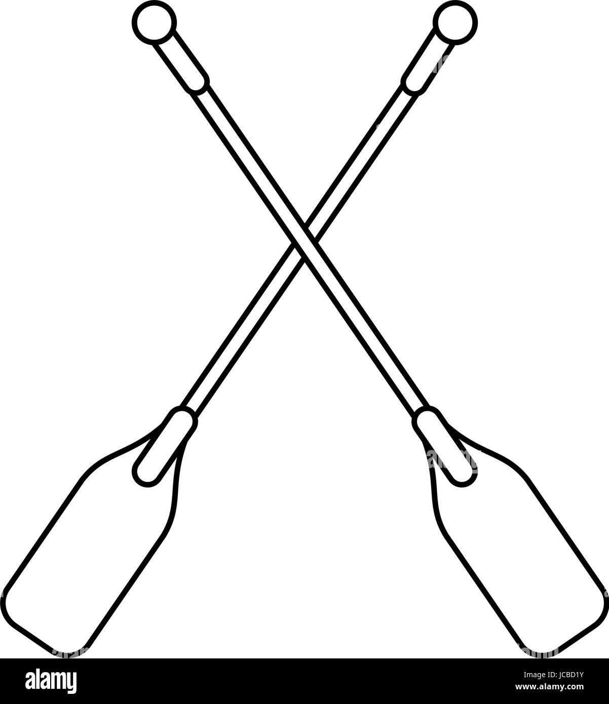 boat oars  icon image  - Stock Image