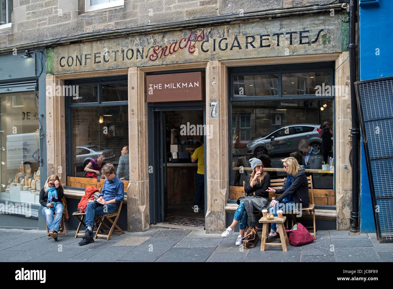 The Milkman A Coffee Shop On Cockburn Street In Edinburgh
