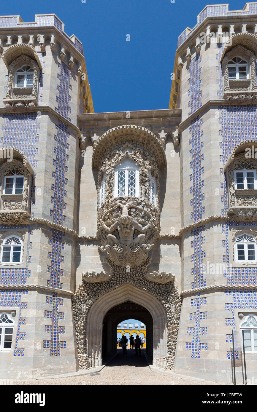 Palace of Pena, Sintra, Portugal Stock Photo