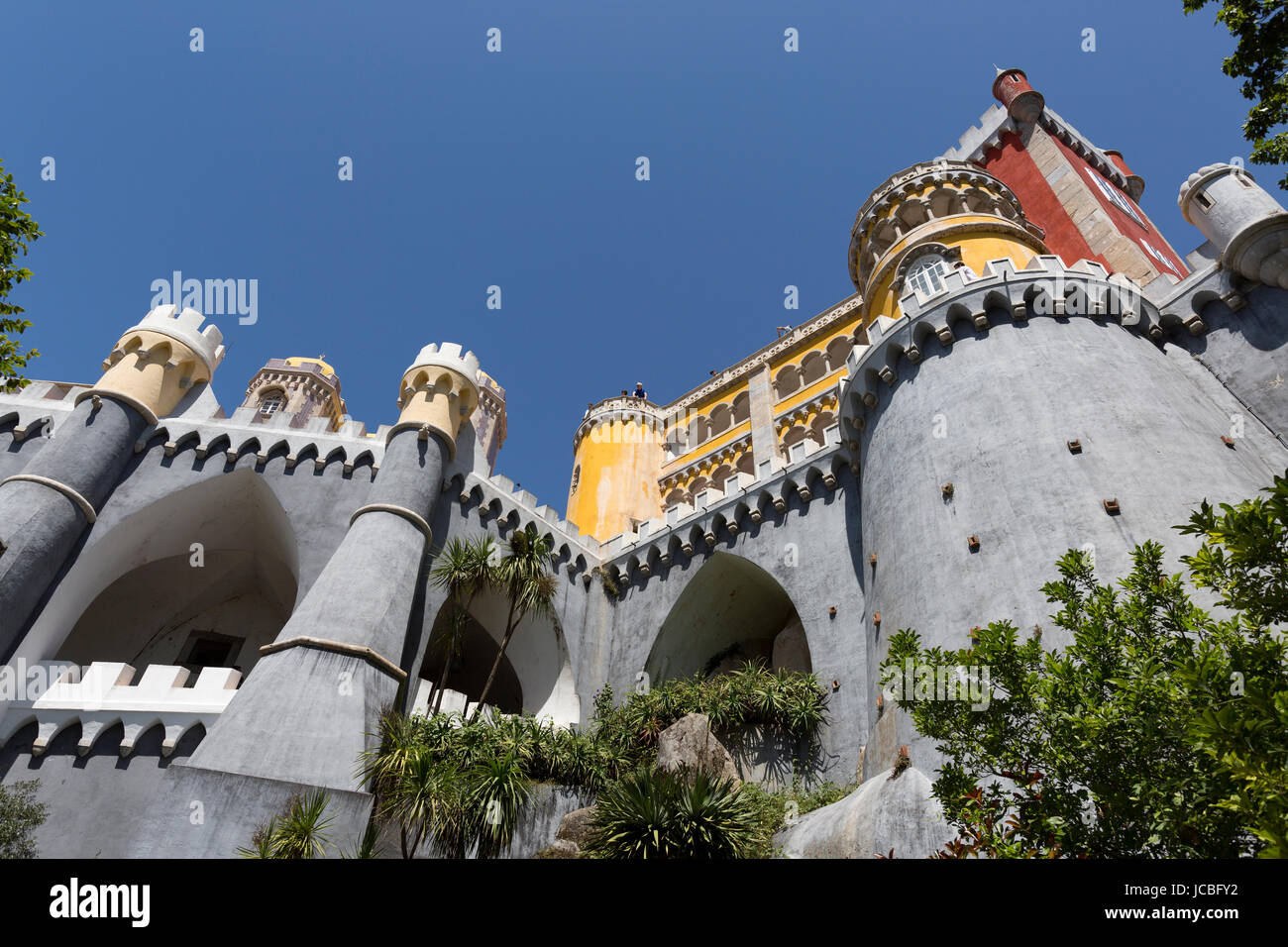 Palace of Pena, Sintra, Portugal - Stock Image