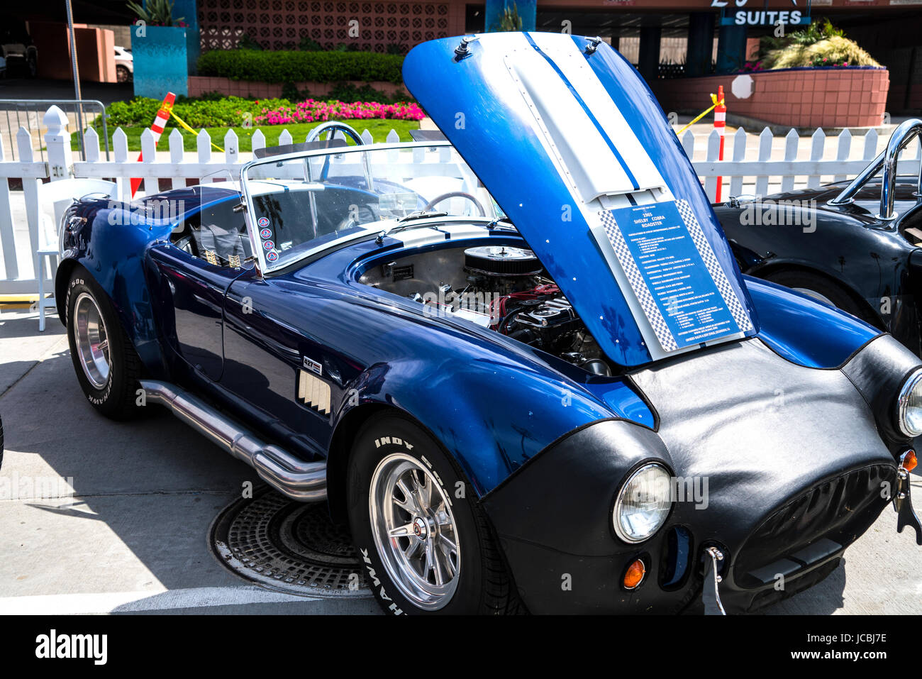 "1965 Blue Shelby Cobra at the La Jolla Concourse d""Elegance car show Stock Photo"