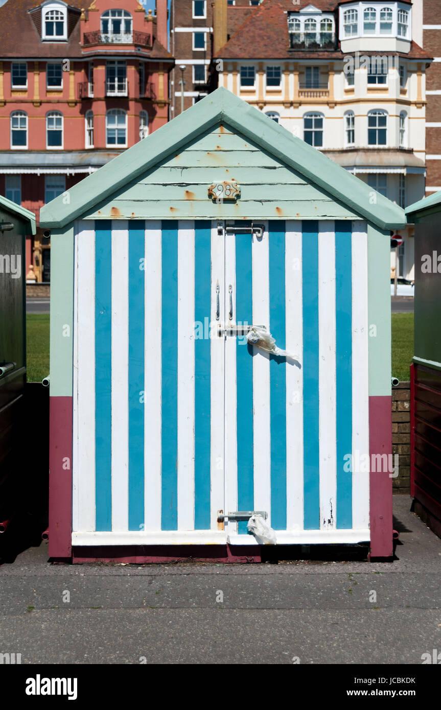 Brighton beach hut, United Kingdom - Stock Image