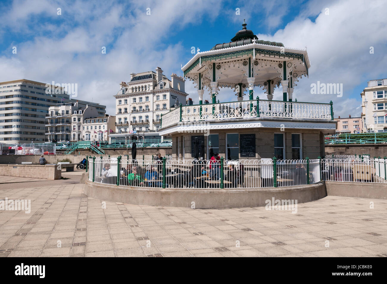 The Bandstand, Brighton seafront, United Kingdom - Stock Image