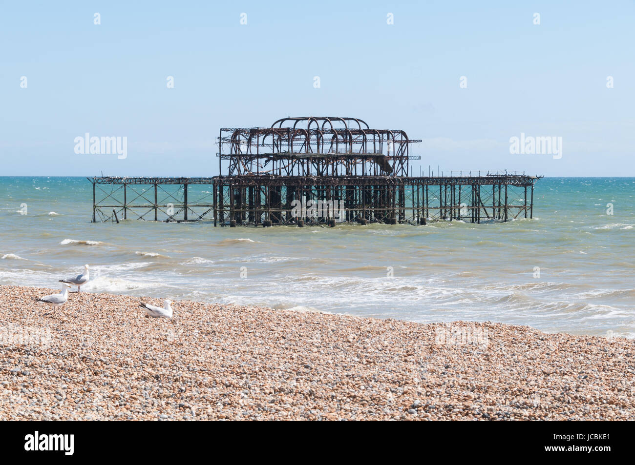 The West Pier, Brighton, United Kingdom - Stock Image