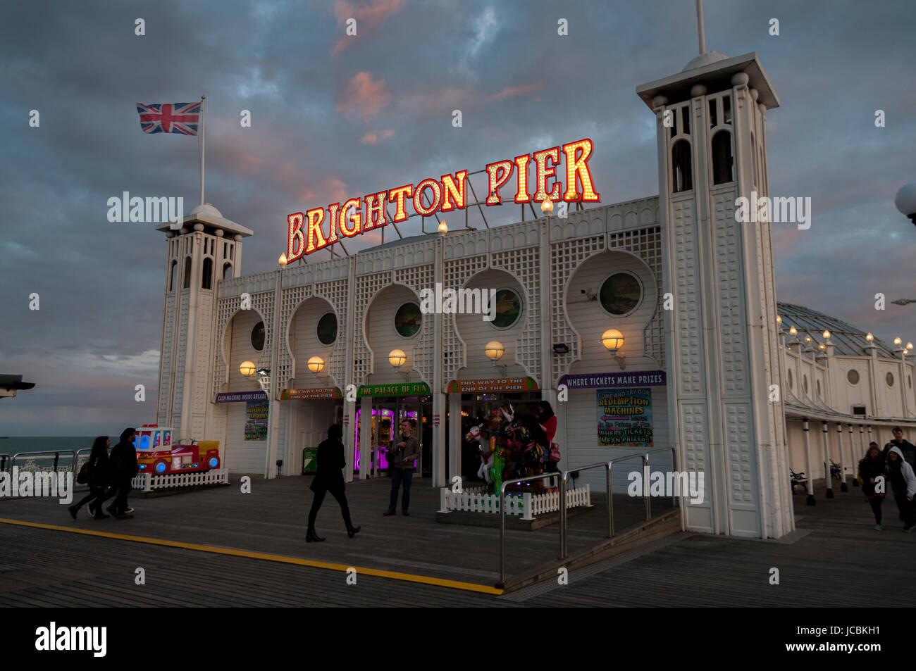 Brighton Pier, United Kingdom - Stock Image