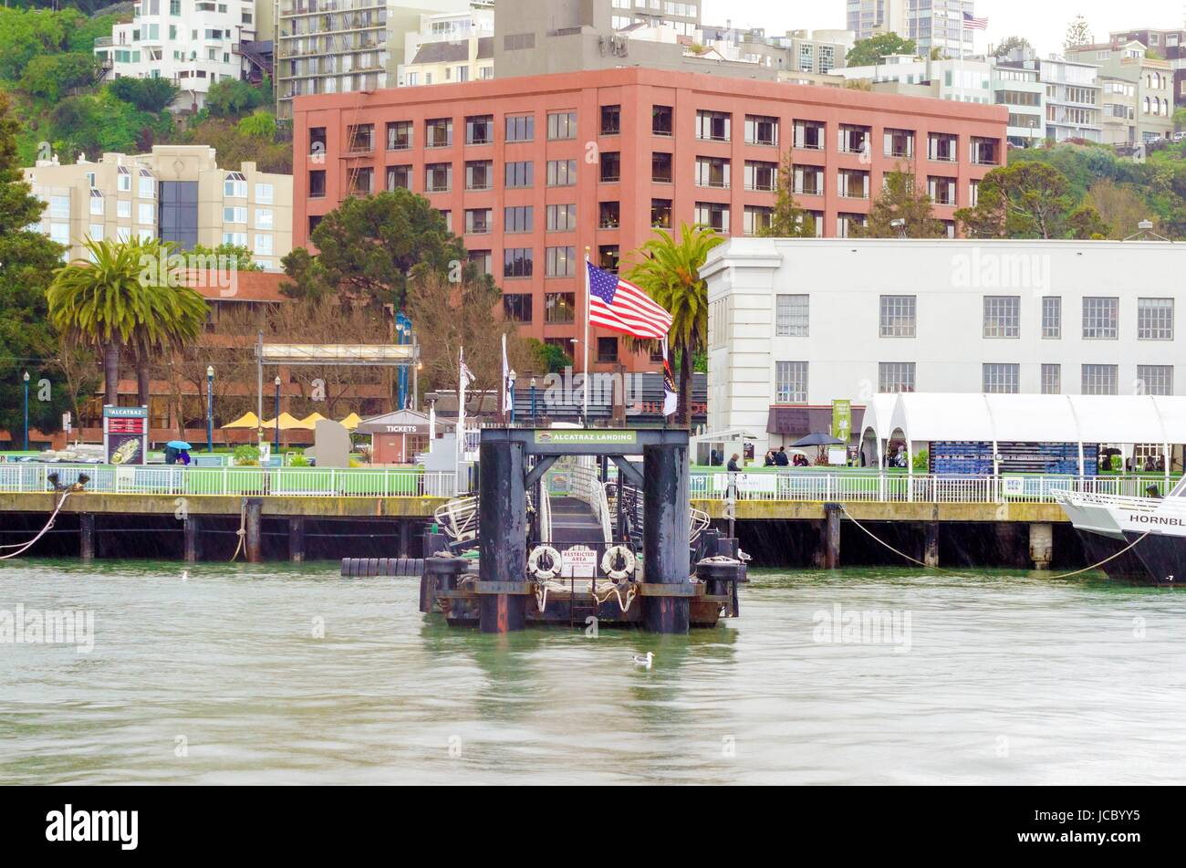 Pier 33 on The Embarcadero at Fisherman's wharf in San Francisco, California, Uniter States. The pier where - Stock Image