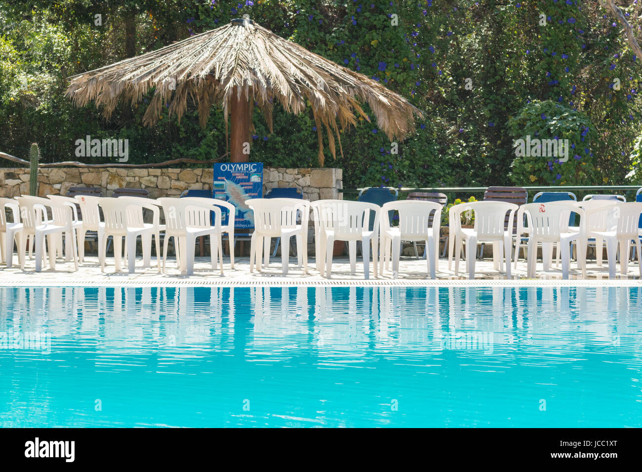 Welcome meeting package holiday - Olympic Holidays - Bastas Complex, Lakka, Paxos, Greece - Stock Image