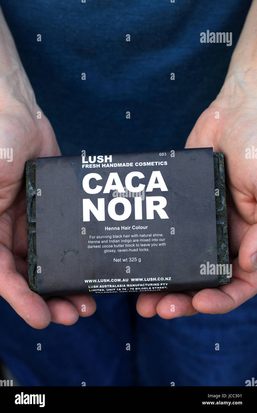Lusa Caca Noir Henna Block For Hair Stock Photo 145324593 Alamy