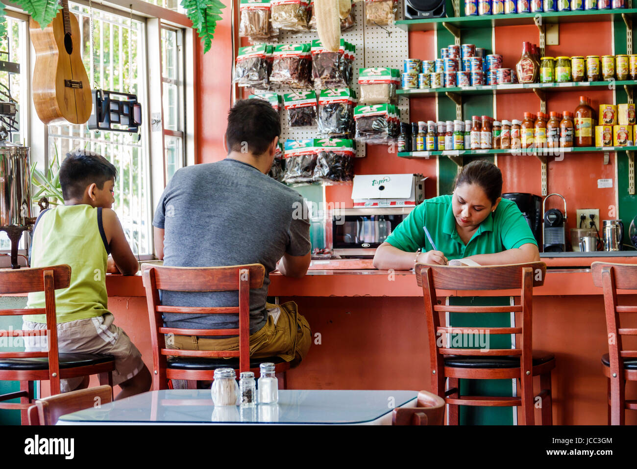 Miami Florida Little Havana neighborhood Taqueria El Mexicano restaurant dining ethnic food Mexican counter Hispanic - Stock Image