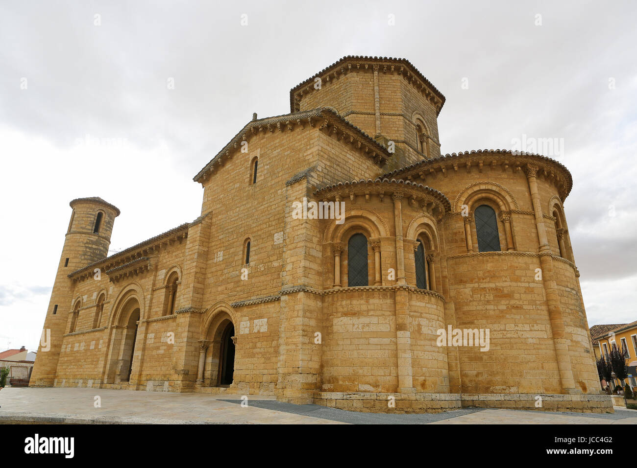 Famous Romanesque church of St Martin of Tours (11th Century) in Fromista, Castille and Leon, Spain. This church - Stock Image