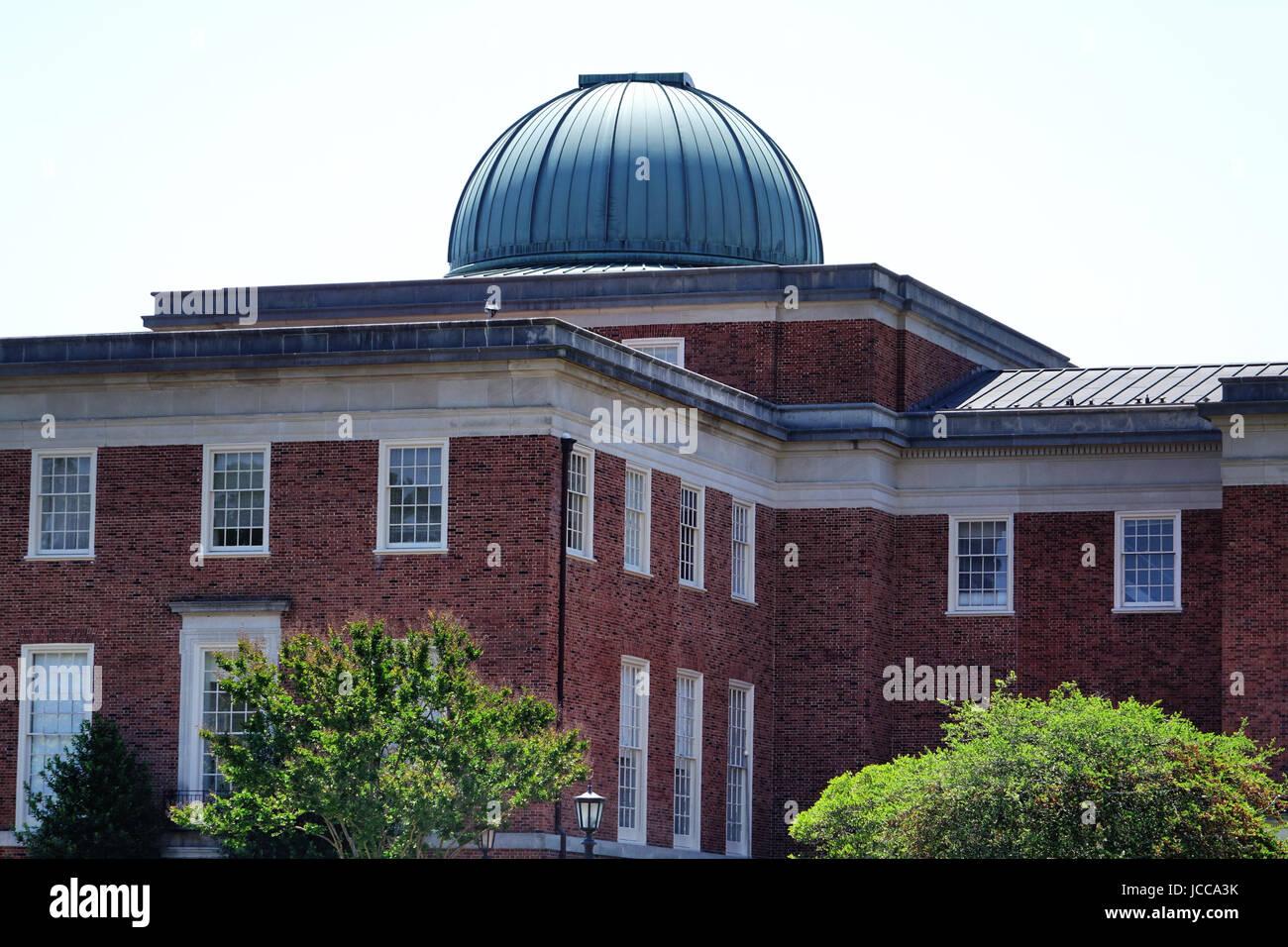 Morehead Planetarium building, Unversity of North Carolina, Chapel Hill, North Carolina - Stock Image
