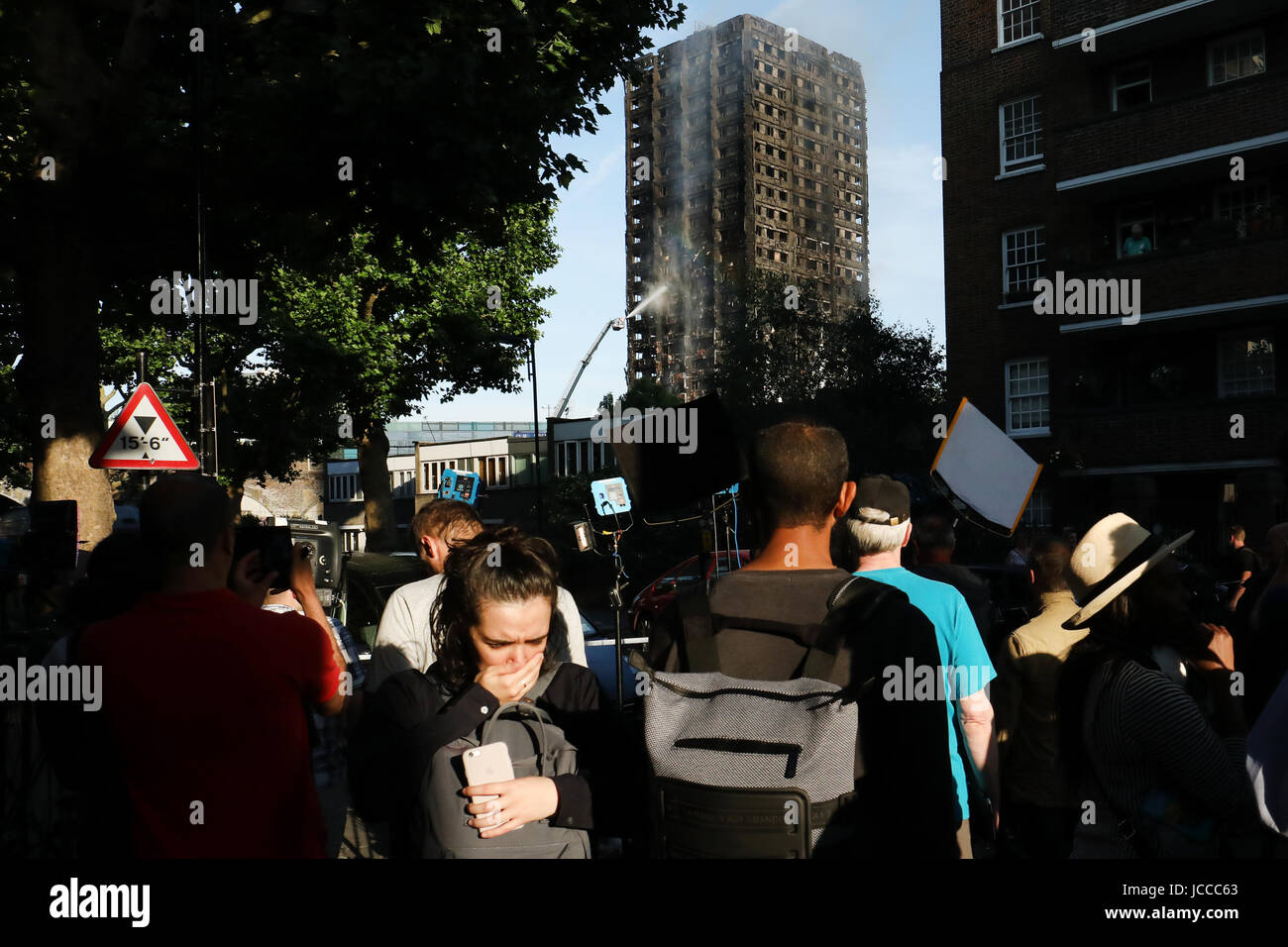 Grenfell Tower fire in London. London, UK. 14th June, 2017 Stock Photo