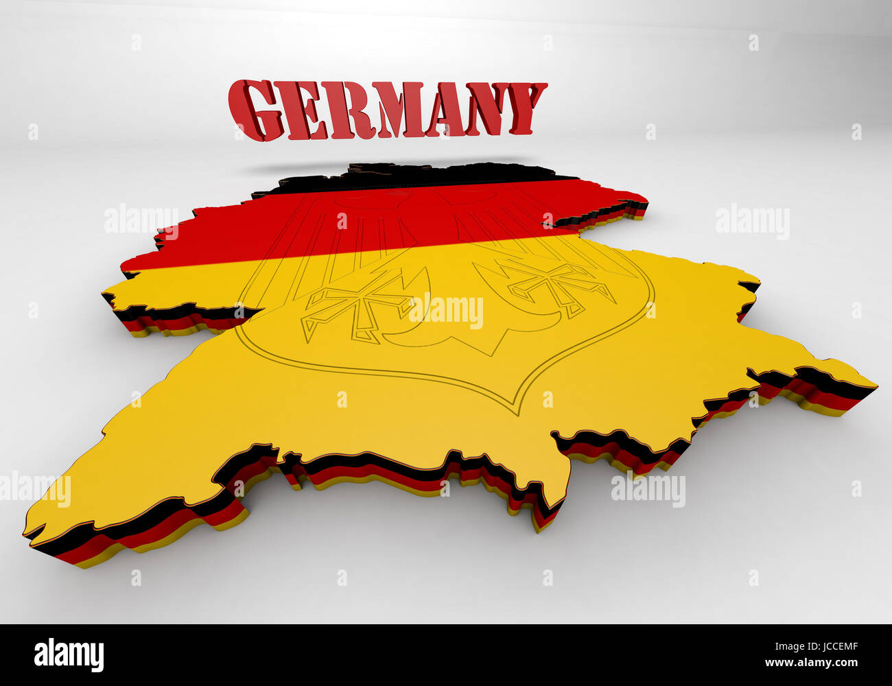 Map Of Germany 3d.3d Map Illustration Of Germany With Flag Stock Photo 145333791 Alamy