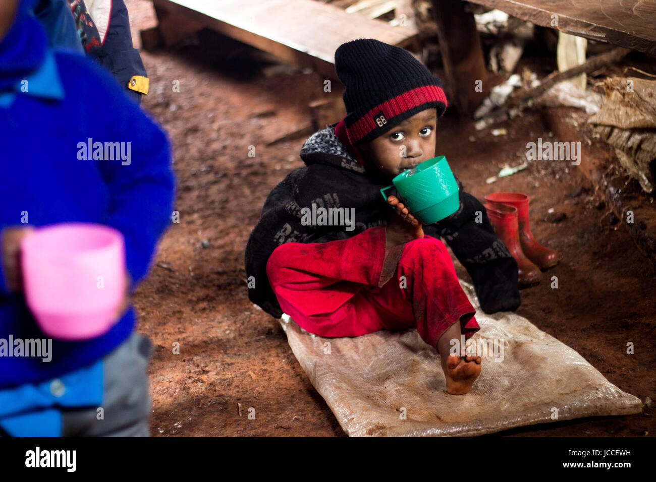 Portrait of a child in Africa Stock Photo