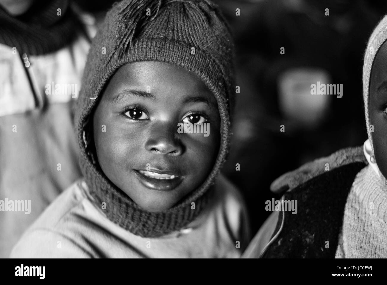 Portrait of a child in Africa - Stock Image