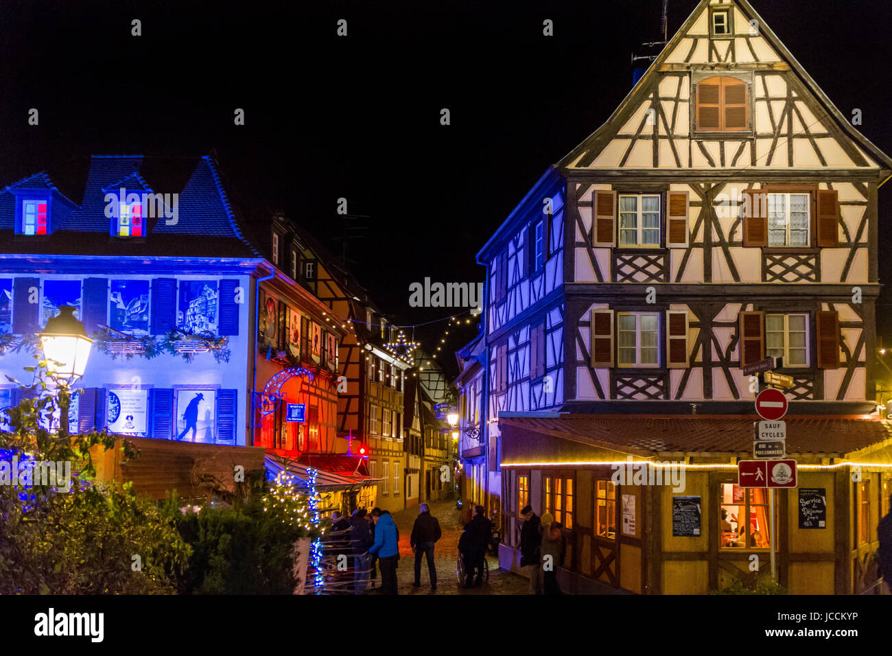 "<a href=""http://de.wikipedia.org/wiki/Colmar"" target="" blank"">Colmar</a>, Alsace, France Stock Photo"