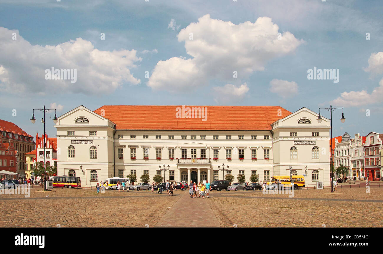 Rathaus Hansestadt Wismar Deutschland / City Hall Hanseatic City of Wismar Germany - Stock Image