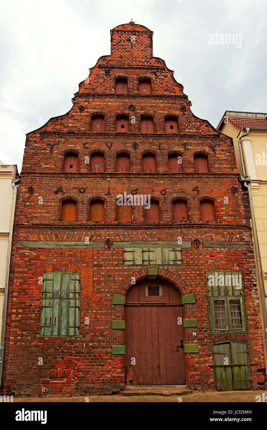 Speicher Hansestadt Wismar Deutschland / Warehouse Hanseatic City of Wismar Germany - Stock Image
