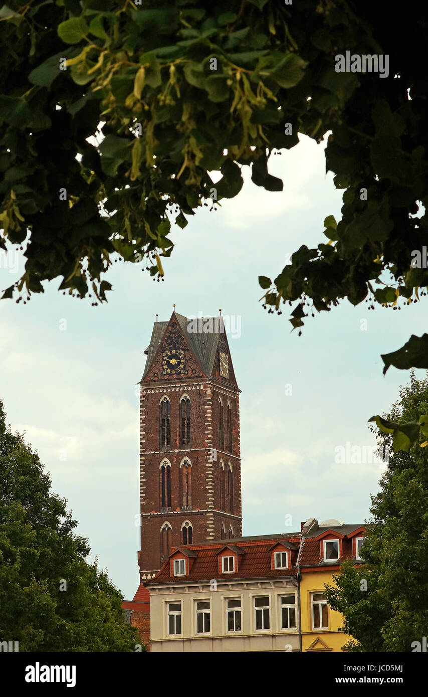 St. Marien-Kirche Hansestadt Wismar Deutschland / Church of St. Mary Hanseatic City of Wismar Germany - Stock Image