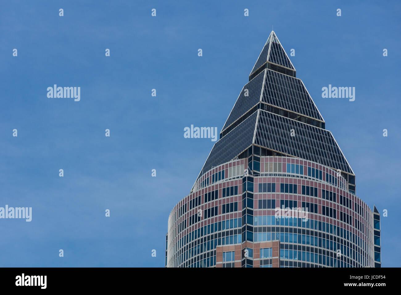 Wolkenkratzer im Frankfurter Bankenviertel Stock Photo