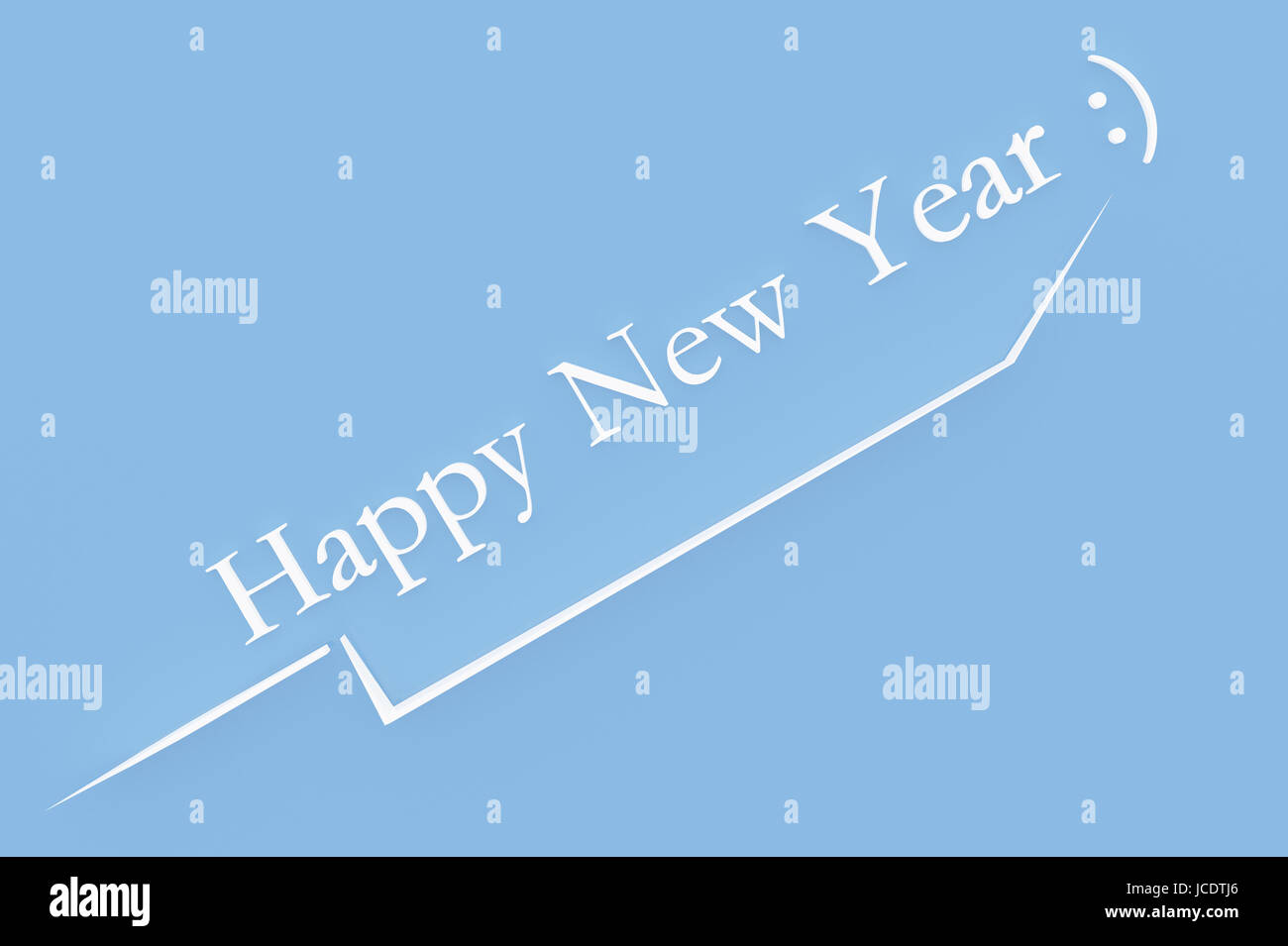 3d illustration; Shape of a  New Year's Eve with Text Stock Photo