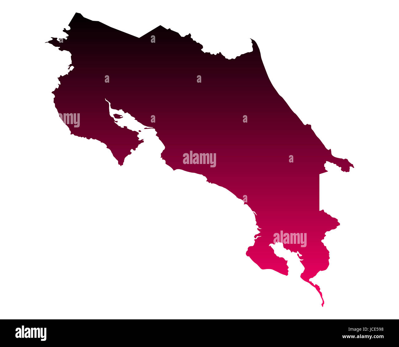 Karte von Costa Rica - Stock Image